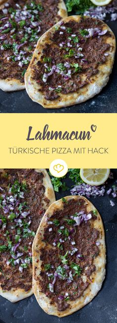 Lahmacun – Türkische Pizza Do you fancy authentic Turkish street food? With the right recipe and a pizza stone, you will enchant the best lahmacun in your home. Pizza Recipes, Snack Recipes, Quiche, Homemade Burgers, Food Tags, Best Food Ever, Turkish Recipes, Soul Food, Finger Foods