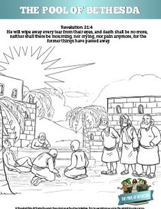 Christian craft on pinterest bible crafts bible for Healing at the pool of bethesda coloring page