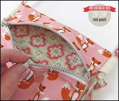 Zip Zap Mini Pouch | Sew4Home