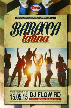 Flyer Design Baracca Latina Aperitivo 2k15