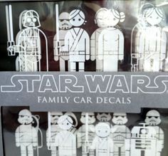 Star Wars Family Car Decals Family Car Decals Geek Things And - Star wars family car decals
