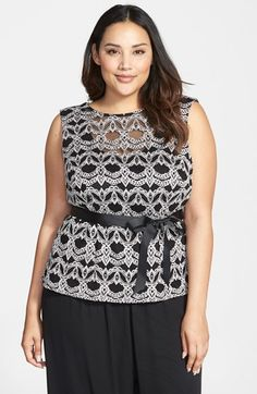 Alex Evenings Illusion Neck Sleeveless Top (Plus Size) available at #Nordstrom