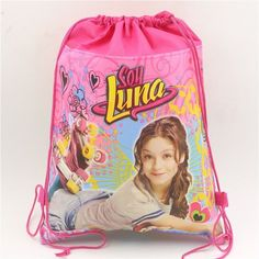 Non-woven Fabric Soy Luna Drawstring Bags Kids Favors Events Gifts Birthday Party Pokemon Decoration Baby Shower Supplies
