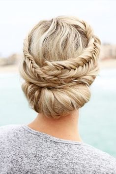 boho wedding hairstyles bohemian braided crown updo anniesforgetmeknots