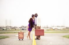 Ashley + Eric's travel-themed e-session. Photos by KBobb Photography.