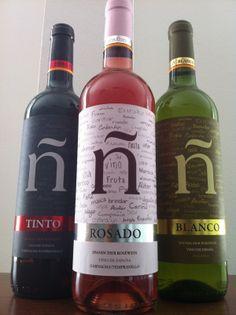 ñ - spanish wine, bottle design by Angelo Ngugi Becker, via Behance