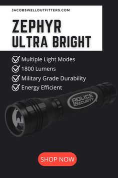 Flashlights have become one of the must have tools for outdoor activities and a significant part of any home emergency kit. If for some reason, you still don't own one, maybe it's time to consider investing on our Zephyr Ultra Bright Flashlight that can serve you in all kinds of situations. #flashlight #ultrabright #zephyr #policesecurity #campingessentials #campinggear #outdoorgear Camping Items, Camping Essentials, Camping Life, Best Survival Gear, Best Hiking Gear, Home Emergency Kit, Jacobs Well, Seamless Transition, Must Have Tools