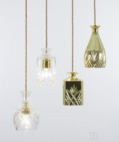 Put A Bulb In It: 24 upcycled pendant lights made from thrifty vintage treasures - Retro Renovation