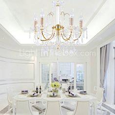 LEBANON - Lustre Cristal com 6 Lâmpadas