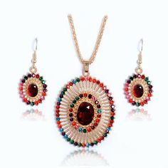 Sunburst Necklace Set