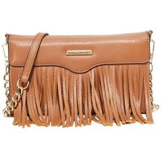 Rebecca Minkoff Fringe Tech Cross Body Bag ($100) ❤ liked on Polyvore featuring bags, handbags, shoulder bags, fringe crossbody handbags, beige shoulder bag, rebecca minkoff purse, rebecca minkoff and beige handbags