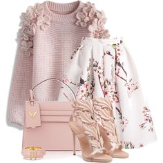 Untitled #5077 by barbarapoole on Polyvore featuring polyvore, fashion, style, Chicwish, Valentino, Kate Spade and clothing