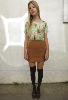 70s Printed Tee, sz. M by Fair Season on Wiseling  #uncommonwomenswear