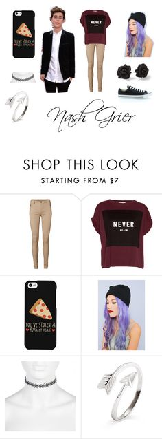 """nash"" by nicole-ruiz-i ❤ liked on Polyvore featuring Vero Moda, Pull&Bear, Converse, LG, River Island, Marc by Marc Jacobs, women's clothing, women, female and woman"