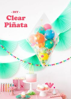 Piñata transparente: ideas originales para fiestas infantiles