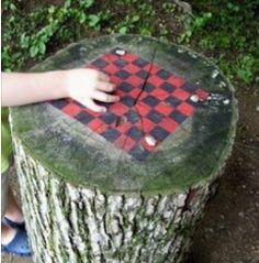 Such a cute idea for using an old tree stump.