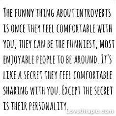Introverts quote personality shy quiet comfortable introvert