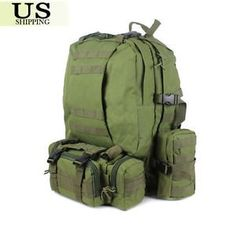 Outdoor Molle Military Tactical Hiking Backpack Rucksack Trekking Camping Bag -- Want to know more, click on the image. #BackpacksandBags