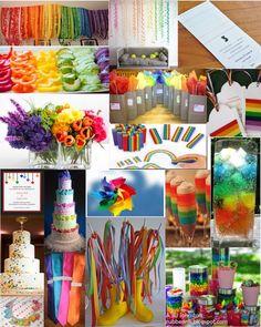 Rainbow wedding theme