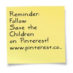 Follow Save the Children on Pinterest  www.pinterest.com/savethechildren