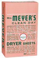 Mrs. Meyer's dryer sheets. Geranium. Vitacost.