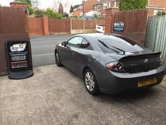 2007 Hyundai Coupe in this morning for 18% Carbon tints to the rear.