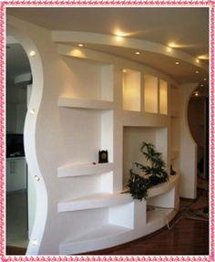 "Képtalálat a következőre: ""half room divider custom drywall"" Wall Unit Designs, Tv Wall Design, Tv Unit Design, Floor Design, Modern Tv Wall Units, Tv Wall Decor, False Ceiling Design, Living Room Tv, New Homes"