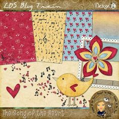 """Thursday's Guest Freebies ~ """"Song of the Heart"""" LDS Blogtrain ♥♥Join 3,200 people. Follow our Free Digital Scrapbook Board. New Freebies every day.♥♥"""