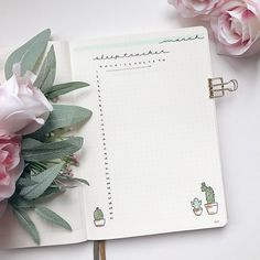 botanical bullet journal minimalist bujo inspiration #bujo #bulletjournal