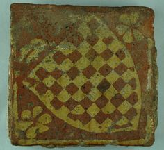 Ulverscroft Priory, Leicestershire. This example carries the Arms of the Warren family.  http://www.leics.gov.uk/leicsrevealed_medievalfloortile.jpg