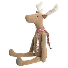 "Medium Maileg corduroy reindeer friend. Super Soft and Cuddley. Approx 23"" L (60cm). Find it now at CiaoBellaShop.com!"