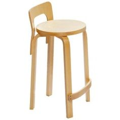 Artek Alvar Aalto High Chair - Birch Perfect for pulling up and perching at a tall countertop, the High Chair takes the traditional bar stool and adds just enough back support without overpowering the simple, minimal design. Alvar Aalto, Room Chairs, Dining Chairs, Dining Room, Cute Desk Chair, High Top Tables, Toddler Table And Chairs, Table Haute, Patio Bar Set