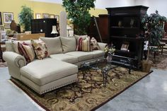 Wheat Sectional (17608-8) - Consignment Northwest