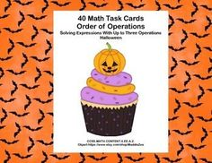 This product has 40 Task Cards to provide practice solving expressions with up to three operations . The cards have a charming Halloween theme to make them engaging. The first card has the reminder PEMDAS to help the students remember the order of operations as they correctly solve each expression.
