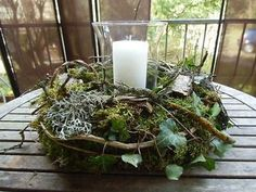 Pin on Weihnachten Christmas Candle Decorations, Advent Candles, Christmas Candles, Candle Lanterns, Hurricane Candle, Easter Wreaths, Christmas Wreaths, Moss Wreath, Diy Crafts To Do