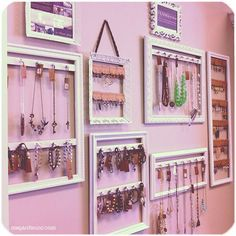 Diy Jewelry Display Wall Closet Ideas For 2019 Diy Jewelry Display Wall Closet Ideas para 2019 Jewellery Storage, Jewellery Display, Diy Jewelry Wall Display, Diy Jewelry Organizer Wall, Diy Jewelry Holder Frame, Boutique Jewelry Display, Bracelet Organizer, Jewellery Holder, Jewellery Shops