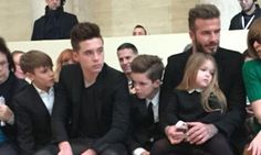 All the Beckham Kids Came Out to Support Victoria Beckham  - ELLE.com