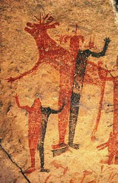 Cave or rock painting