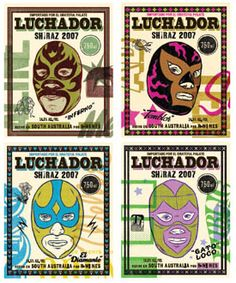 Alas, R Wines is no more. I enjoyed their El Luchador Shiraz and the varying labels.