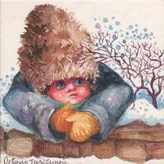 Winter Winter Solstice, Seasons, Illustration, Painting, Animals, Art, Animales, Art Background, Animaux