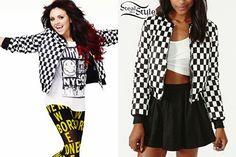 http://stealherstyle.net/2013/05/19/jesy-nelson-checked-bomber-jacket/  Jesy in #Seventeen