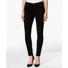 7 For All Mankind Skinny Black Wash Jeans ($158) ❤ liked on Polyvore featuring jeans, black, skinny fit jeans, form fitting jeans, white skinny jeans, skinny jeans and white jeans
