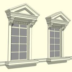 Georgian pediment styles in architecture a pediment is for Exterior window pediments