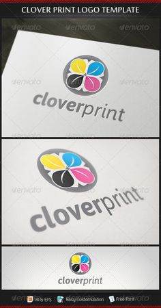 Clover Print  - Logo Design Template Vector #logotype Download it here: http://graphicriver.net/item/clover-print-logo-template/3188049?s_rank=1709?ref=nesto