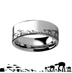 Star Wars Battle of Hoth Tungsten Wedding Ring