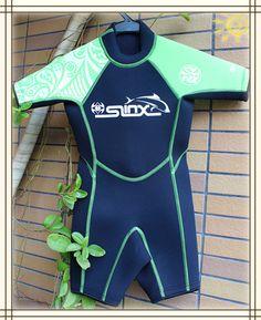 Slinx Kid's neoprene 3mm wetsuit for boy swimming suit,children diving ,shorty kid wetsuit,swim surfing snorkeling water park $58.60