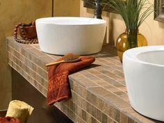 5 Best Bathroom Vanity Countertop Options | Stock Cabinet Express Vanity Countertop, Bathroom Countertops, Best Bathroom Vanities, Sinks, Jacuzzi Bathtub, Countertop Options, Stock Cabinets, Small Showers, Small Mirrors