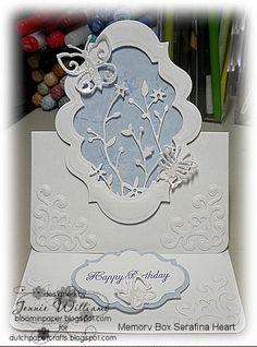 1/16/2012; Jennie Williams at 'Bloomin' Paper' blog; Serafina die from  Memory Box