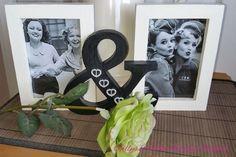 ♥♥ Custom Designed Solid Wood Retro Black & White  &  Photo Frame ♥♥