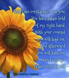 Psalm 73:23, 24